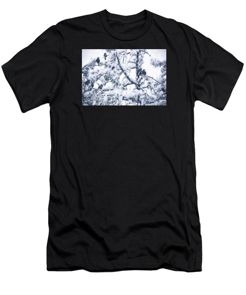 Crows In Snow Men's T-Shirt (Athletic Fit)
