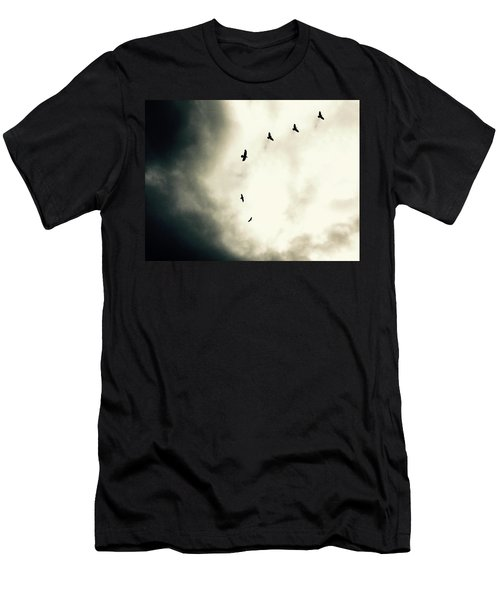 Crows On Christmas Eve 1 Men's T-Shirt (Athletic Fit)