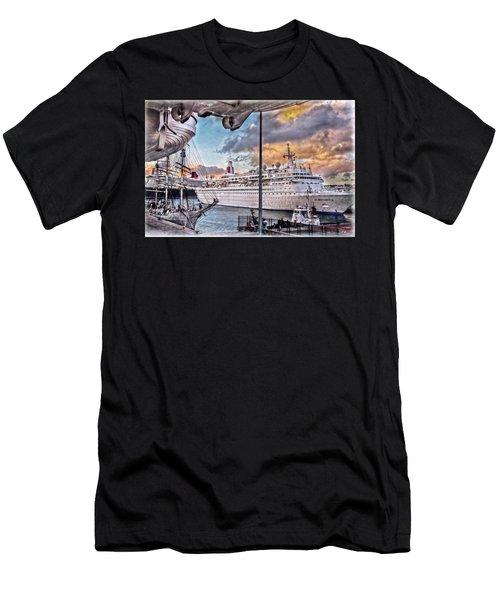 Cruise Port - Light Men's T-Shirt (Athletic Fit)