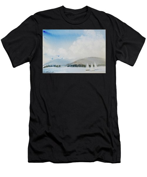 Cruising In Company Along The Tasmania Coast  Men's T-Shirt (Athletic Fit)