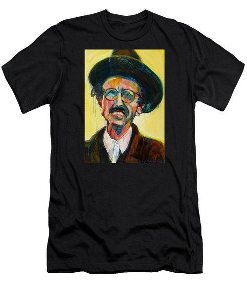Men's T-Shirt (Slim Fit) featuring the painting Crumb by Les Leffingwell