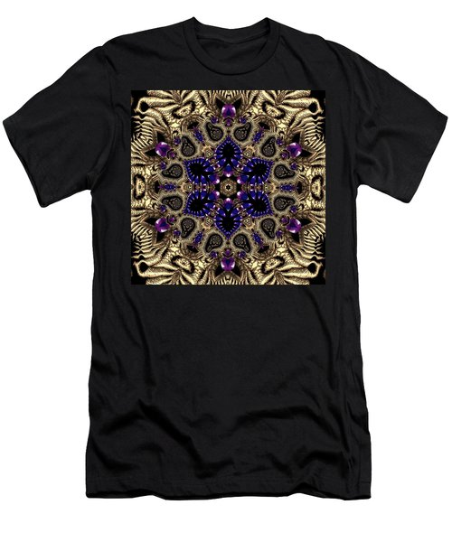 Men's T-Shirt (Athletic Fit) featuring the digital art Crystal 61345 by Robert Thalmeier