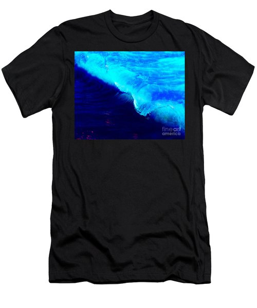 Crystal Blue Wave Painting Men's T-Shirt (Athletic Fit)