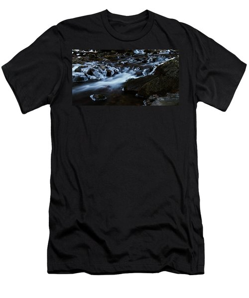 Crystal Flows In Hdr Men's T-Shirt (Athletic Fit)