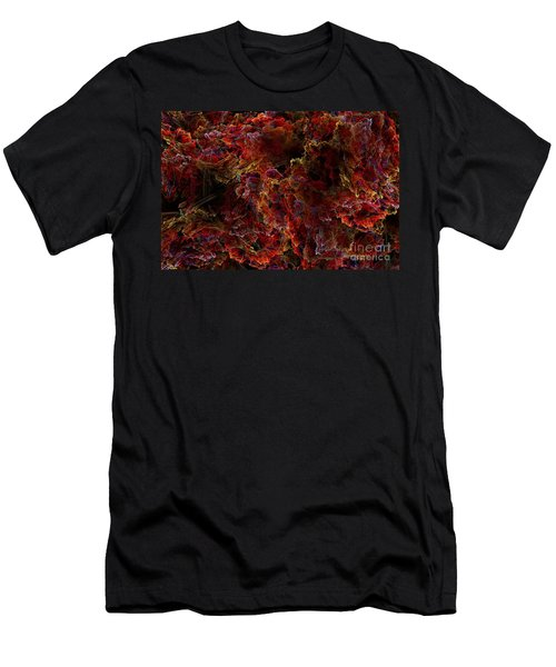 Men's T-Shirt (Slim Fit) featuring the digital art Crystal Inspiration Number Two Close Up by Olga Hamilton