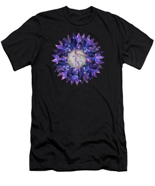 Crystal Magic Mandala Men's T-Shirt (Athletic Fit)