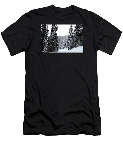 Crystal Mountain Skiing 2 Men's T-Shirt (Slim Fit) by Tanya Searcy
