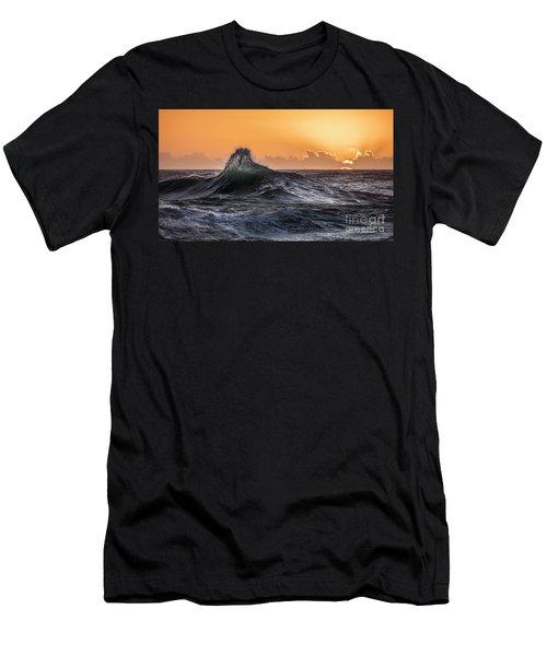 Crystal Wave Sunset Napali Coast Kauai Hawaii Men's T-Shirt (Athletic Fit)