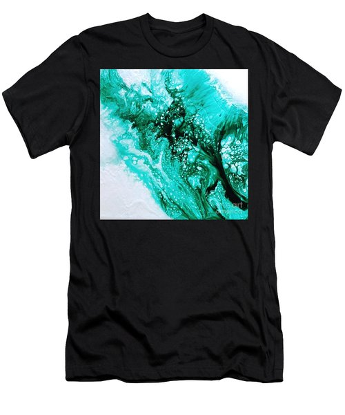 Crystal Wave2 Men's T-Shirt (Athletic Fit)