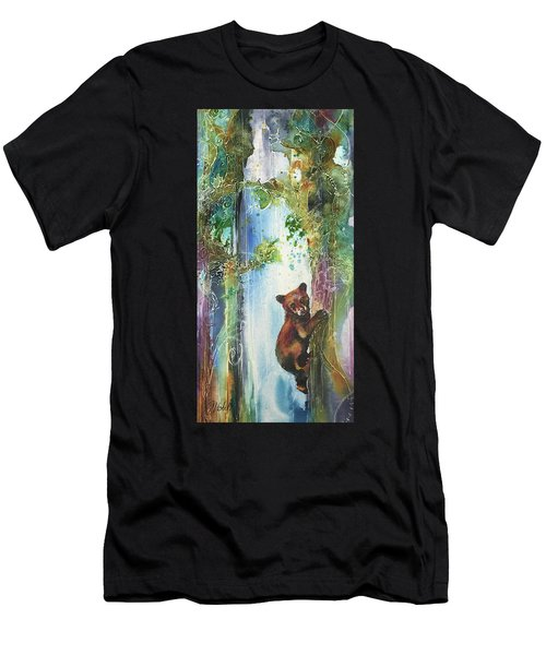 Cub Bear Climbing Men's T-Shirt (Athletic Fit)