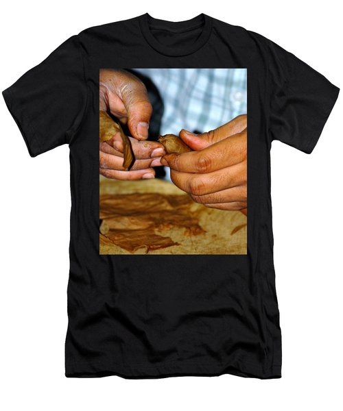 Cuban Cigar Roller Men's T-Shirt (Athletic Fit)