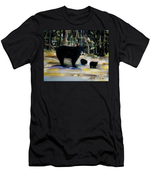 Cubs With Momma Bear - Dreamy Version - Black Bears Men's T-Shirt (Athletic Fit)
