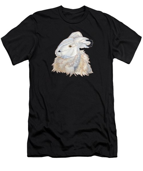 Men's T-Shirt (Athletic Fit) featuring the painting Cuddly Arctic Hare by Angeles M Pomata
