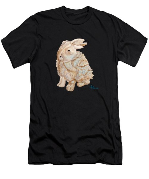 Men's T-Shirt (Athletic Fit) featuring the painting Cuddly Arctic Hare II by Angeles M Pomata