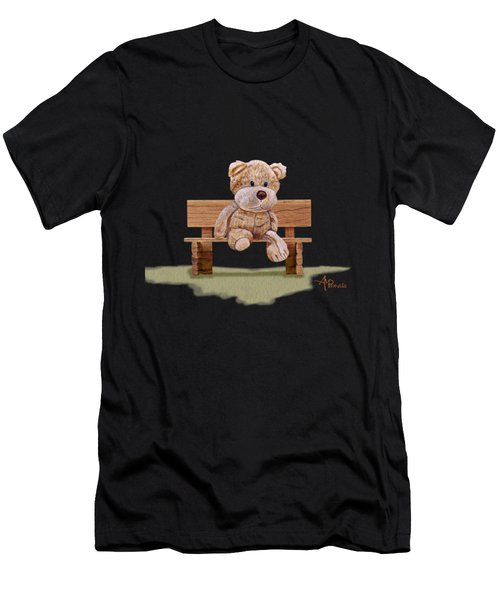 Men's T-Shirt (Athletic Fit) featuring the painting Cuddly At The Park by Angeles M Pomata
