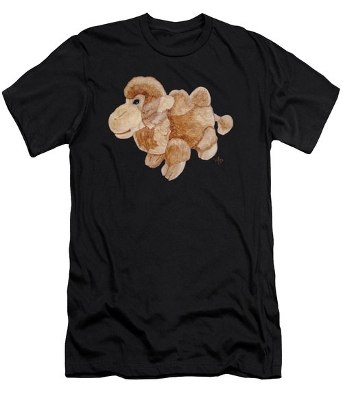 Men's T-Shirt (Athletic Fit) featuring the painting Cuddly Camel by Angeles M Pomata