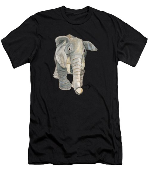 Men's T-Shirt (Athletic Fit) featuring the painting Cuddly Elephant by Angeles M Pomata