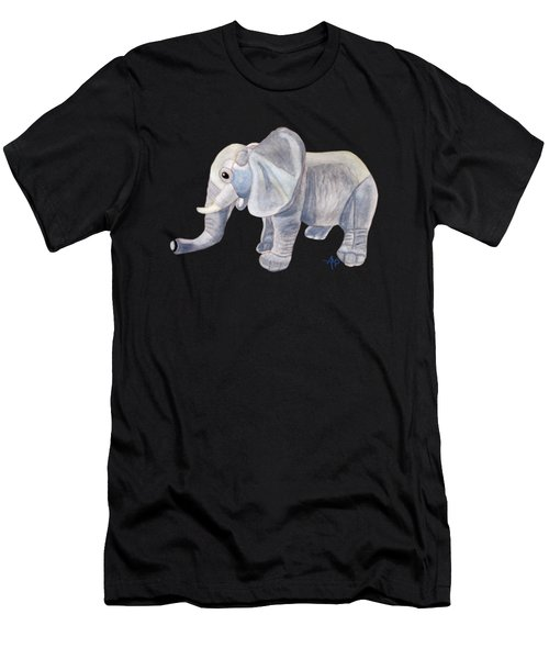 Men's T-Shirt (Athletic Fit) featuring the painting Cuddly Elephant II by Angeles M Pomata