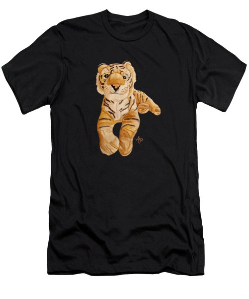 Men's T-Shirt (Athletic Fit) featuring the painting Cuddly Tiger by Angeles M Pomata
