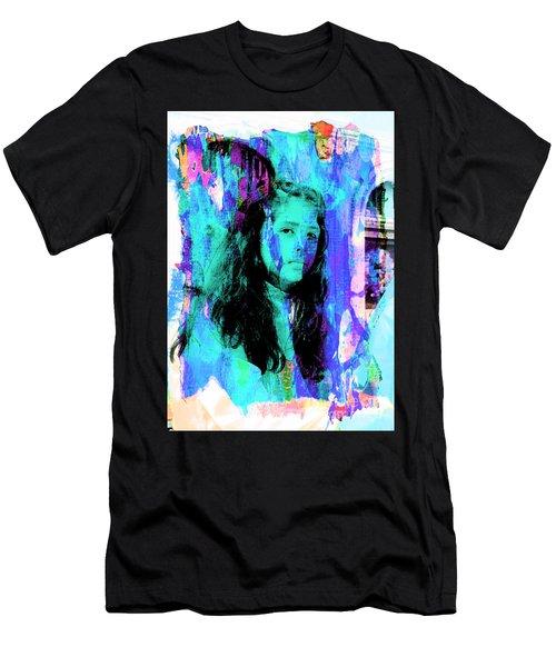 Men's T-Shirt (Slim Fit) featuring the photograph Cuenca Kids 892 by Al Bourassa