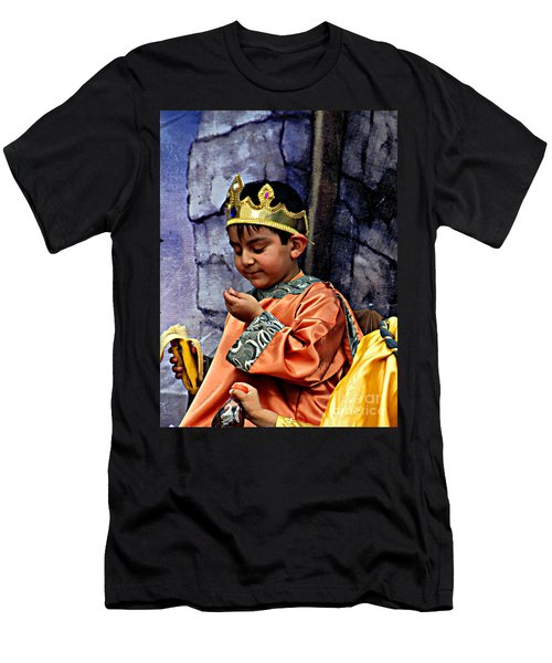 Men's T-Shirt (Slim Fit) featuring the photograph Cuenca Kids 903 by Al Bourassa