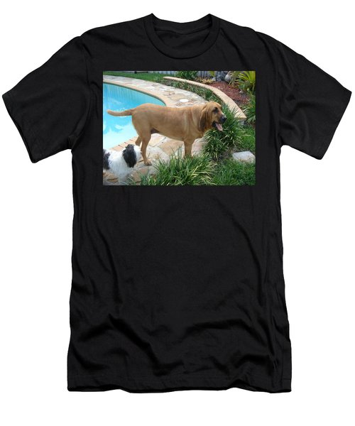 Cujo And Lucky By The Pool Men's T-Shirt (Athletic Fit)
