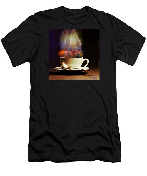 Cup Of Autumn Men's T-Shirt (Slim Fit) by Lilia D
