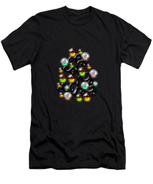 Cupcake Glass Tree Men's T-Shirt (Athletic Fit)