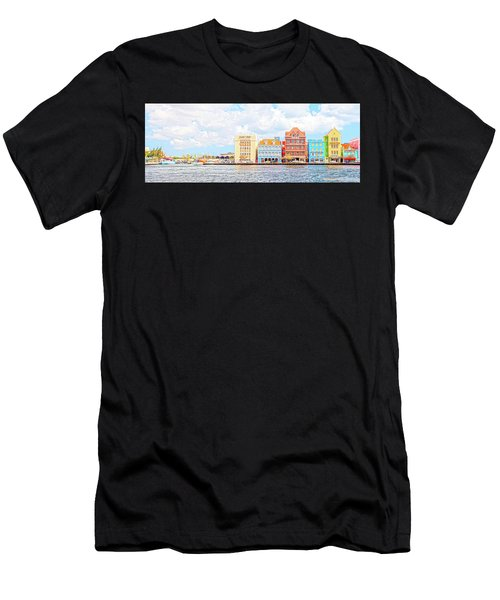 Curacao Awash Men's T-Shirt (Athletic Fit)