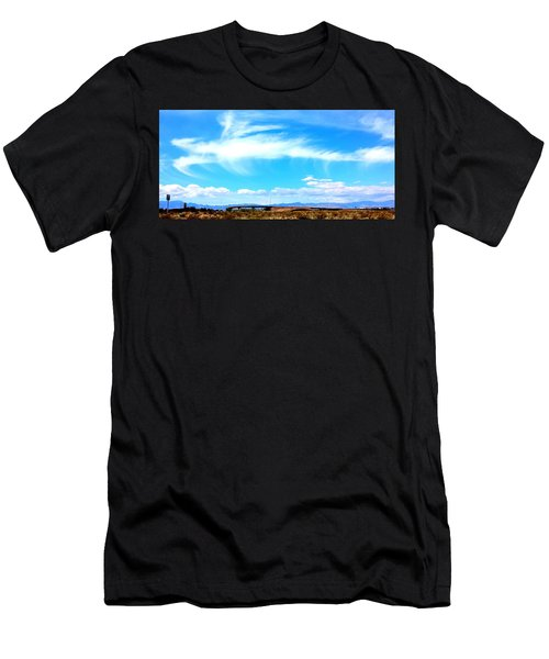 Dragon Cloud Over Suburbia Men's T-Shirt (Athletic Fit)
