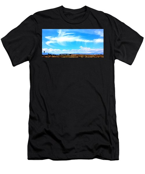 Dragon Cloud Over Suburbia Men's T-Shirt (Athletic Fit)