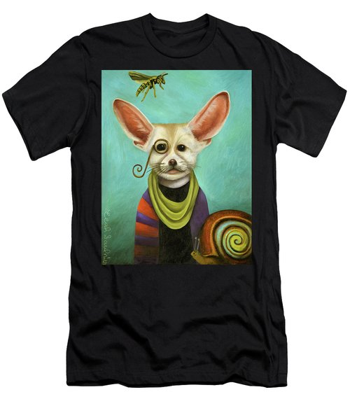 Curious As A Fox Men's T-Shirt (Slim Fit) by Leah Saulnier The Painting Maniac