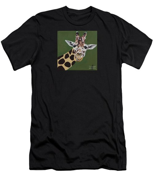 Curious Giraffe Men's T-Shirt (Athletic Fit)