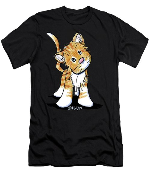 Curious Tabby Men's T-Shirt (Athletic Fit)