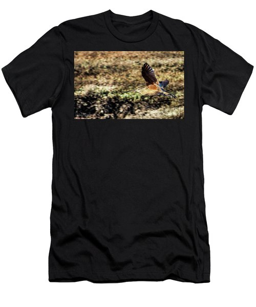 Curlew In Flight Men's T-Shirt (Athletic Fit)