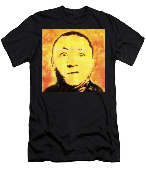 Curly Howard Three Stooges Pop Art Men's T-Shirt (Athletic Fit)