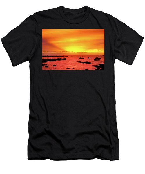 Currie Fishing Fleet. Men's T-Shirt (Athletic Fit)