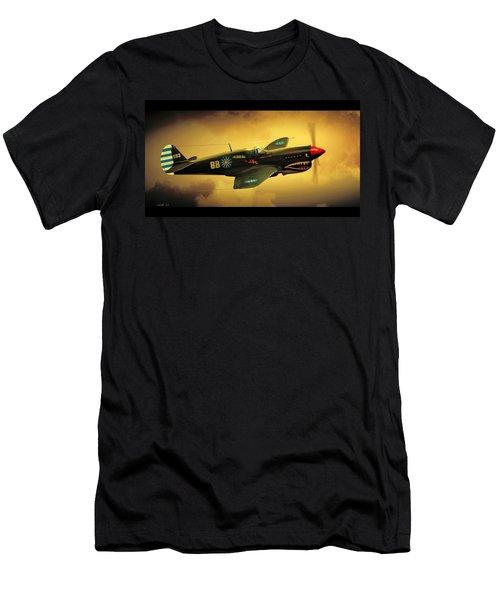 Men's T-Shirt (Slim Fit) featuring the digital art Curtiss P40 C Warhawk by John Wills