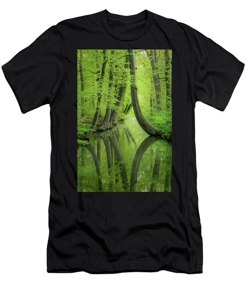 Curved Trees Men's T-Shirt (Athletic Fit)