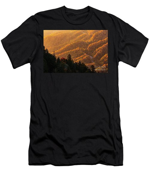 Smoky Mountain Roads Men's T-Shirt (Athletic Fit)
