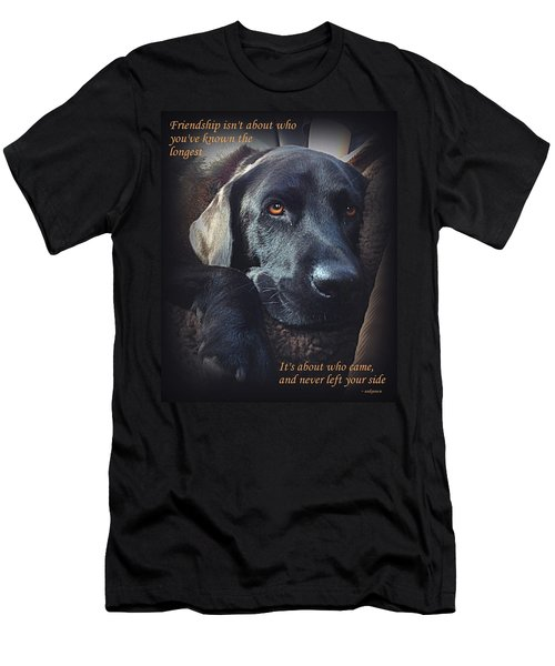 Custom Paw Print Midnight Men's T-Shirt (Athletic Fit)
