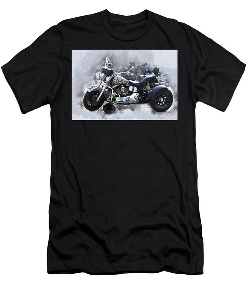 Customized Harley Davidson Men's T-Shirt (Athletic Fit)