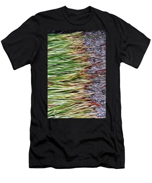 Cut Grass And Pebbles Men's T-Shirt (Athletic Fit)