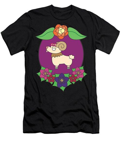 Cute Goat Men's T-Shirt (Slim Fit) by Jadrien Douglas