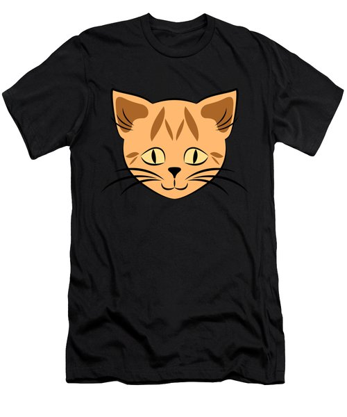 Cute Orange Tabby Cat Face Men's T-Shirt (Athletic Fit)