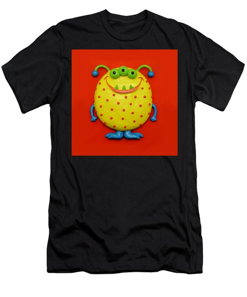 Cute Yellow Monster Men's T-Shirt (Athletic Fit)