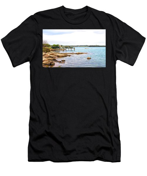 Men's T-Shirt (Athletic Fit) featuring the photograph Cutler Pier by Betty Pauwels