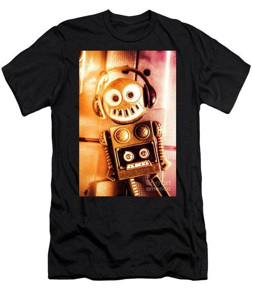 Cyborg Dance Party Men's T-Shirt (Athletic Fit)