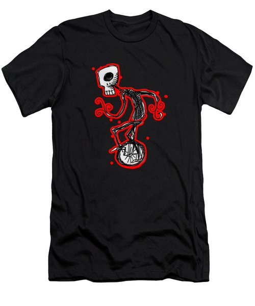 Cyclops On A Unicycle Men's T-Shirt (Slim Fit) by Matt Mawson