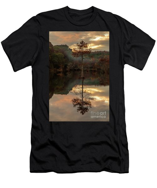 Cypress At Sunset Men's T-Shirt (Slim Fit) by Iris Greenwell